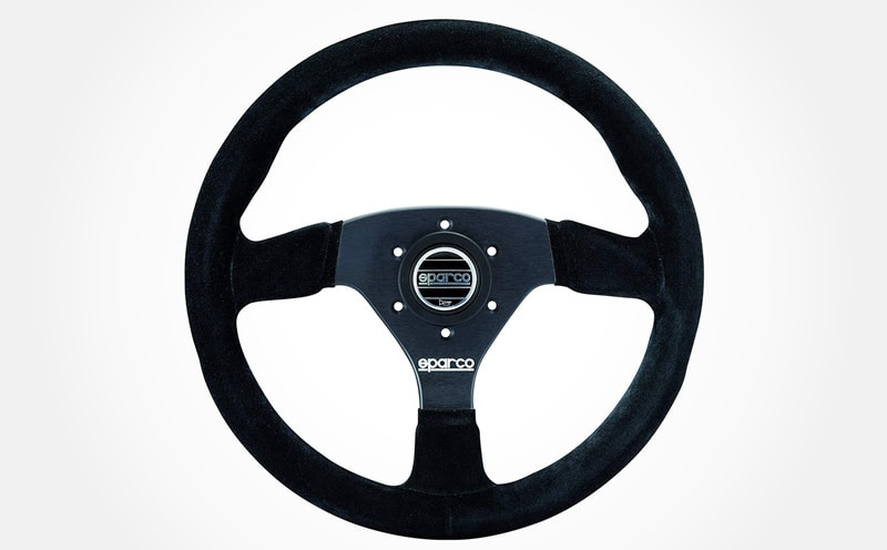 10 Best Aftermarket Steering Wheels For Your Classic Car Sparco Suede Steering Wheel in black
