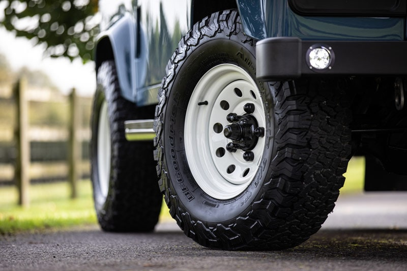 "16"" steel wheels with BFGoodrich All-Terrain tires"