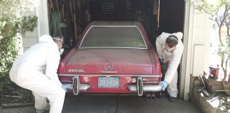 Mercedes 280 SL Gets First Wash and Detailing in 37 Years