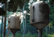 Modern tree house design by Antony Gibbon Embryo