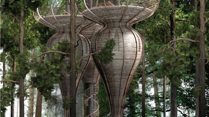 Modern tree house design by Antony Gibbon ROOST
