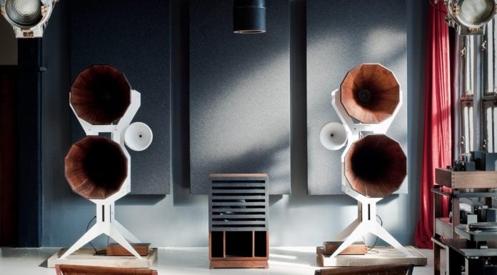 Wooden loudspeakers by Oswalds Mill Audio