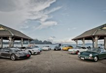8 Generations of the Porsche 911 on the road
