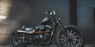 Custom Harley-Davidson Iron 883 the SJ2 made for Sailor Jerry