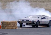 Delorean Drifting In Autopilot mode