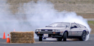 Delorean Drifting In Autopilot mode