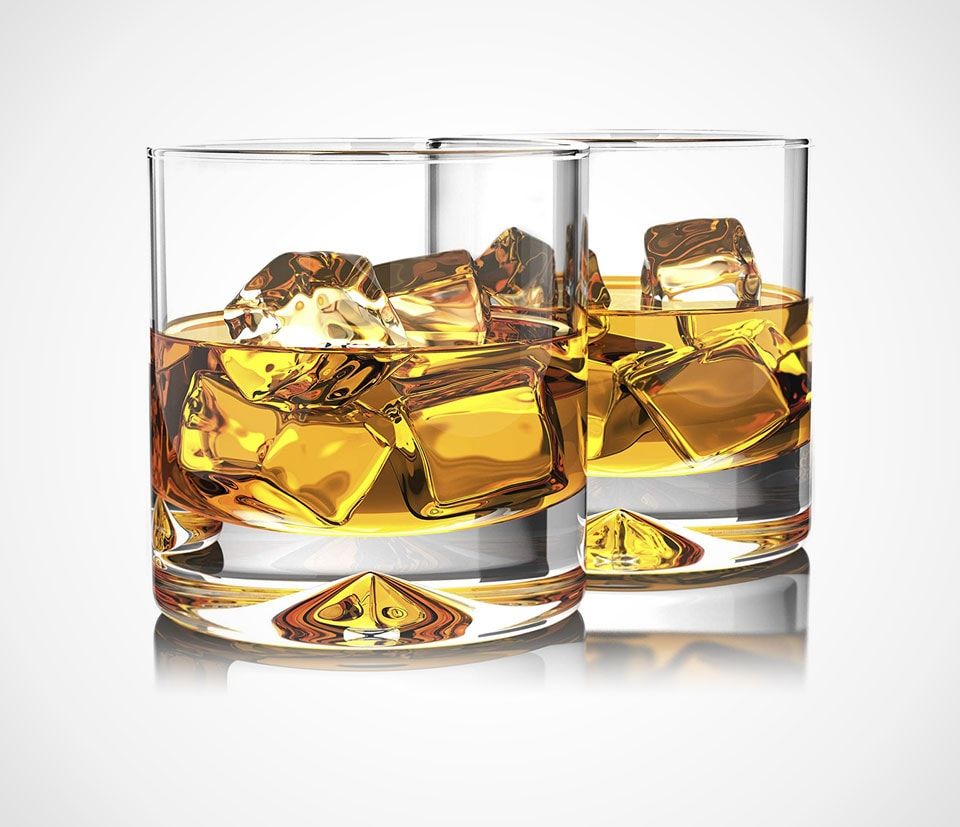 Classic whiskey tumbler crystal glass by Mofado