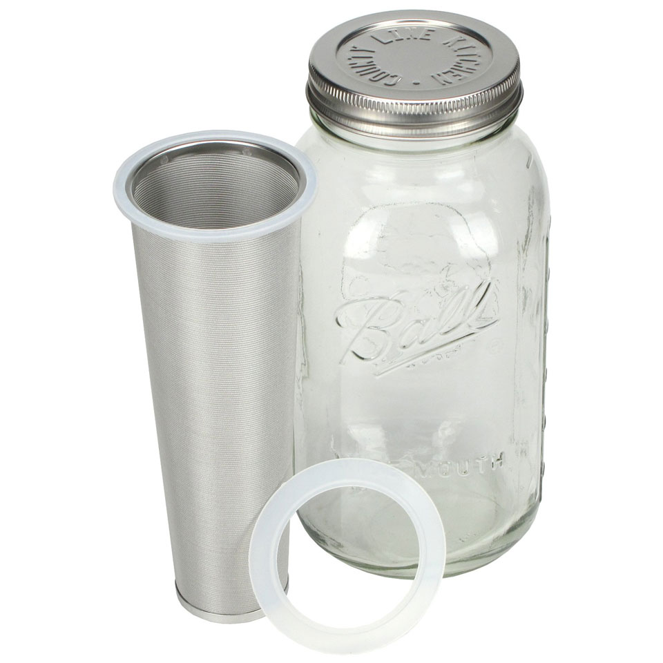 Cold Brew coffee with Mason Jar Coffee Maker