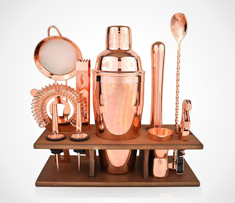 Copper bartender set: a stunning look in stylish copper