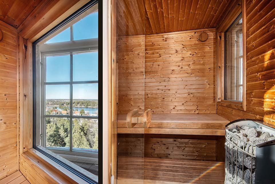 Spectacular view of any Swedish sauna.
