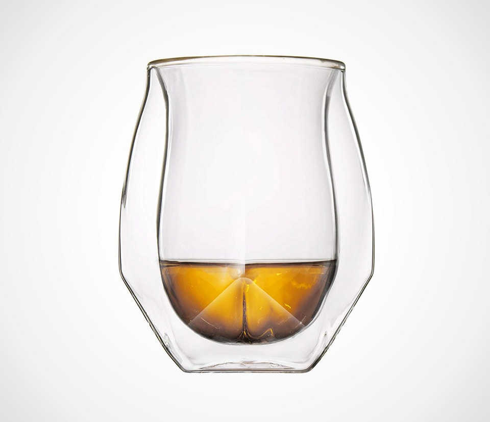Modern light-weight whiskey glasses by NORLAN