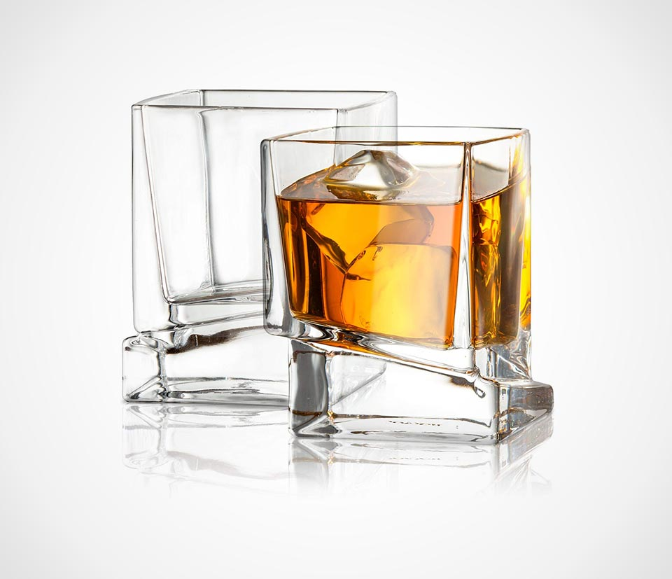 Square Carre bourbon glasses by JoyJolt