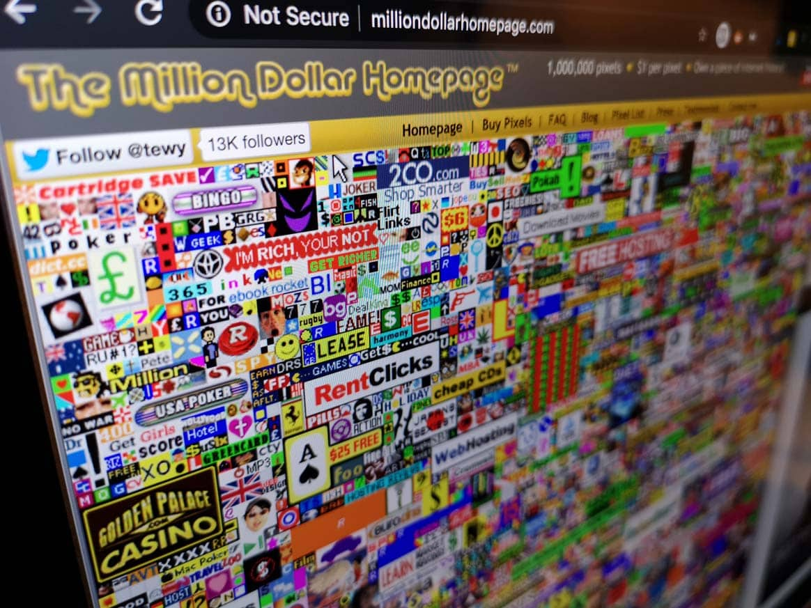 The Million Dollar Homepage: Owning a Piece of Internet History