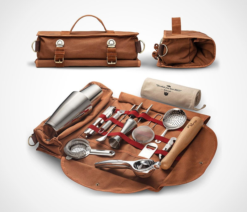 Travel bag bar set: the professional all-inclusive set to-go