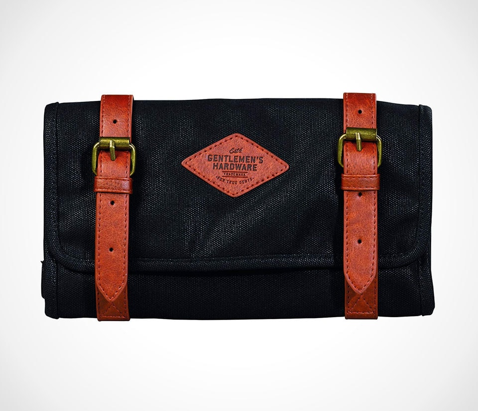 Canvas and leather tool roll by Gentlemen's Hardware