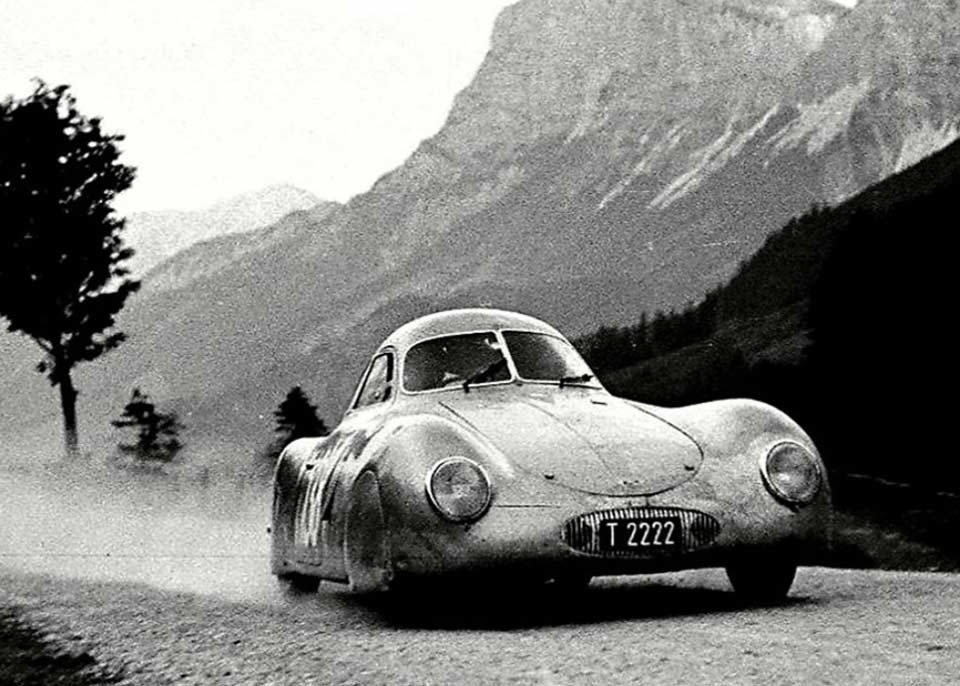International Austrian Alpine road race June 24 1950 Photo by Otto Mathe