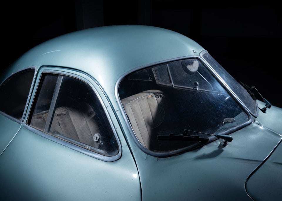 1939 Porsche Type 64 cabin, front window and win shield wipers