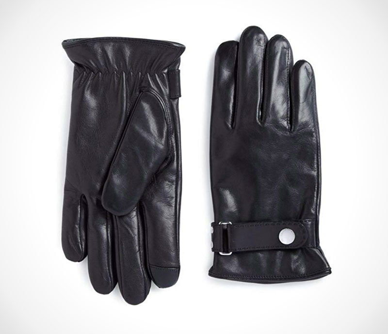 Leather Driving Gloves Stylish black gloves with touch technology by Polo Ralph Lauren