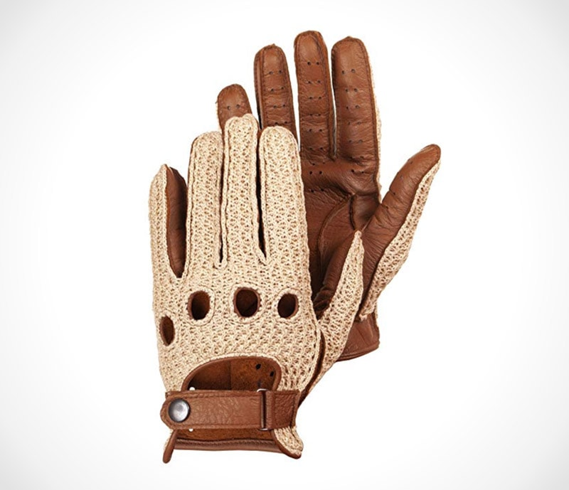 Leather Driving Gloves The classic cotton crochet driving gloves by Hungant