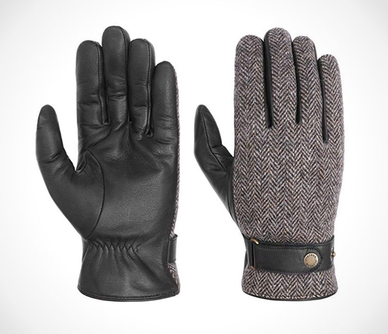 Leather Driving Gloves Traditional wool and leather gloves by Stetson