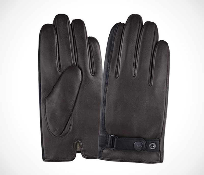 Leather Driving Gloves Warm winter gloves in Italian Nappa leather by GSG