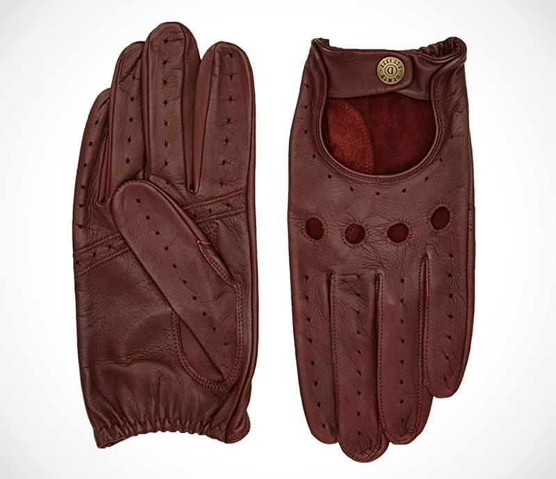 Mens Dents Delta Classic Leather Driving Gloves