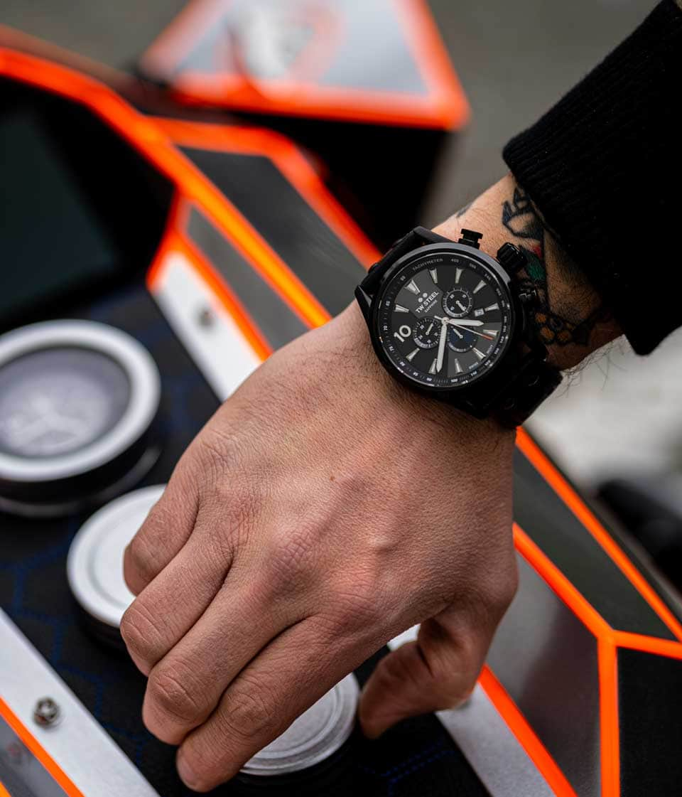 TW Steel watch developed together with Ironwood Motorcycles and BMW