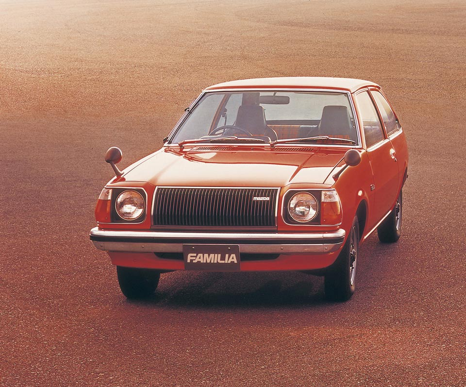 Meet The First RWD Mazda 323 Hatchback Launched In 1977