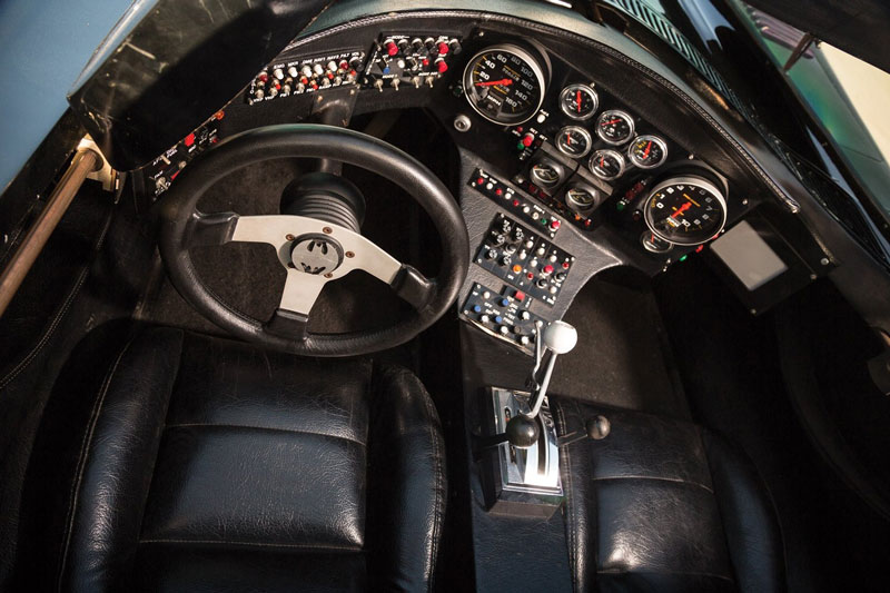 Batmobile interior cockpit