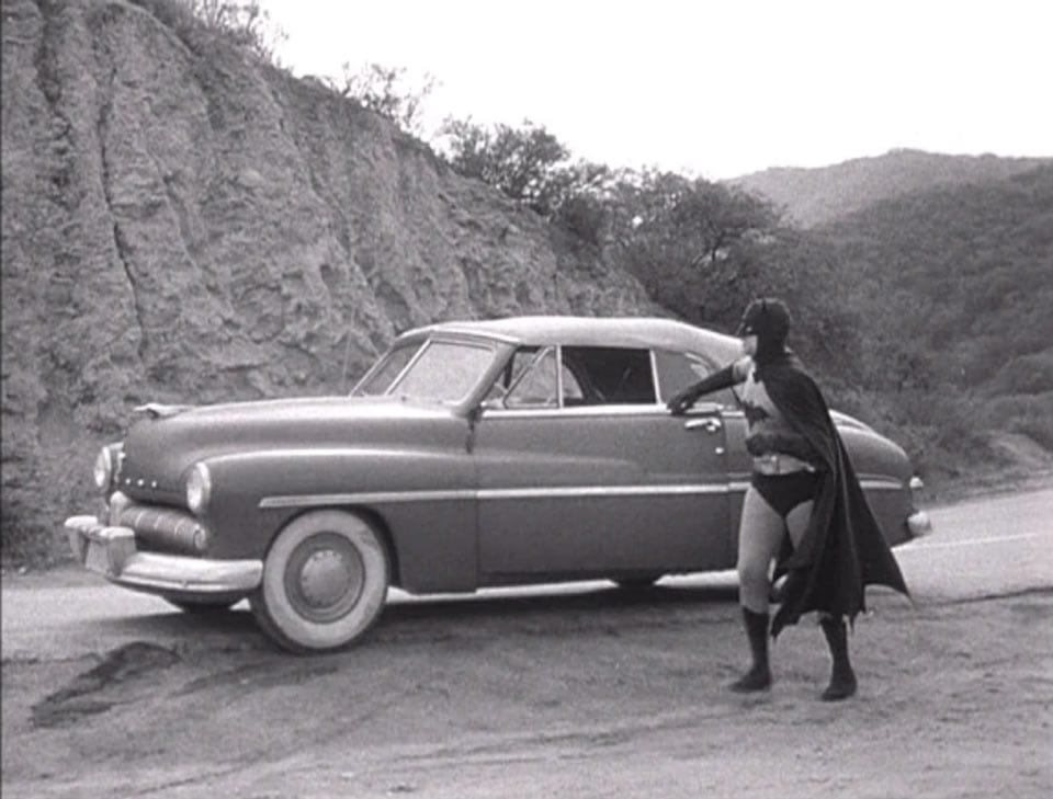 1943 serial film Batman 1939 Cadillac Series 75 convertible as the batmobile