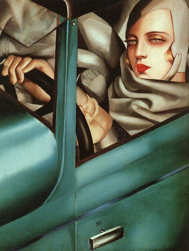 Art Deco Style Painting: Auto Portrait by Tamara De Lempicka