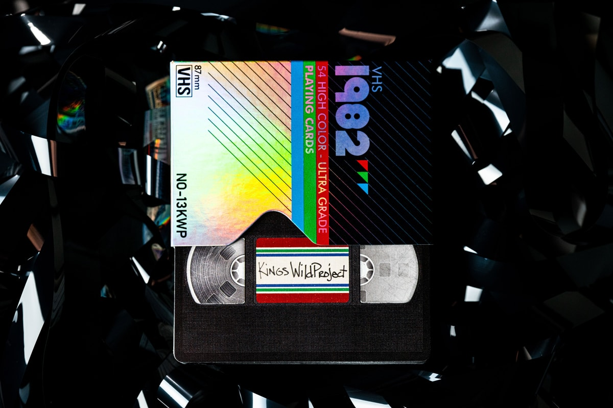 Retro Playing Cards: The Holographic VHS 1982 by Kings Wild Project