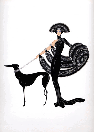 Symphony in Black by Erté