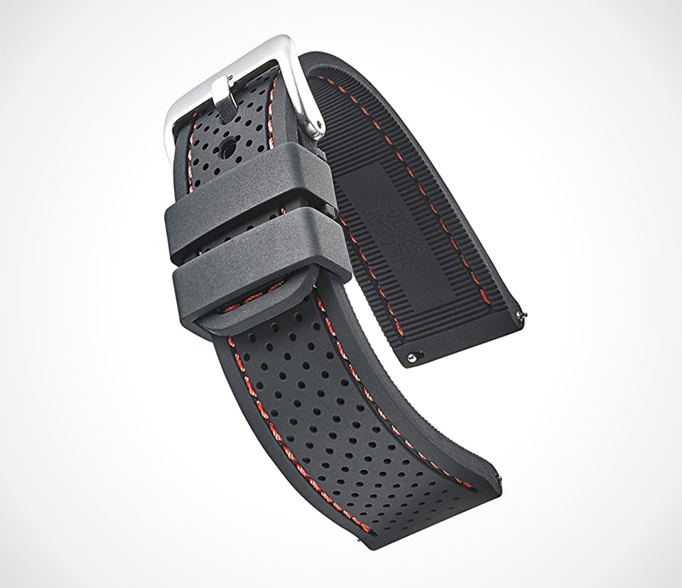 Alpine perforated silicone watch band by Stunning Selection