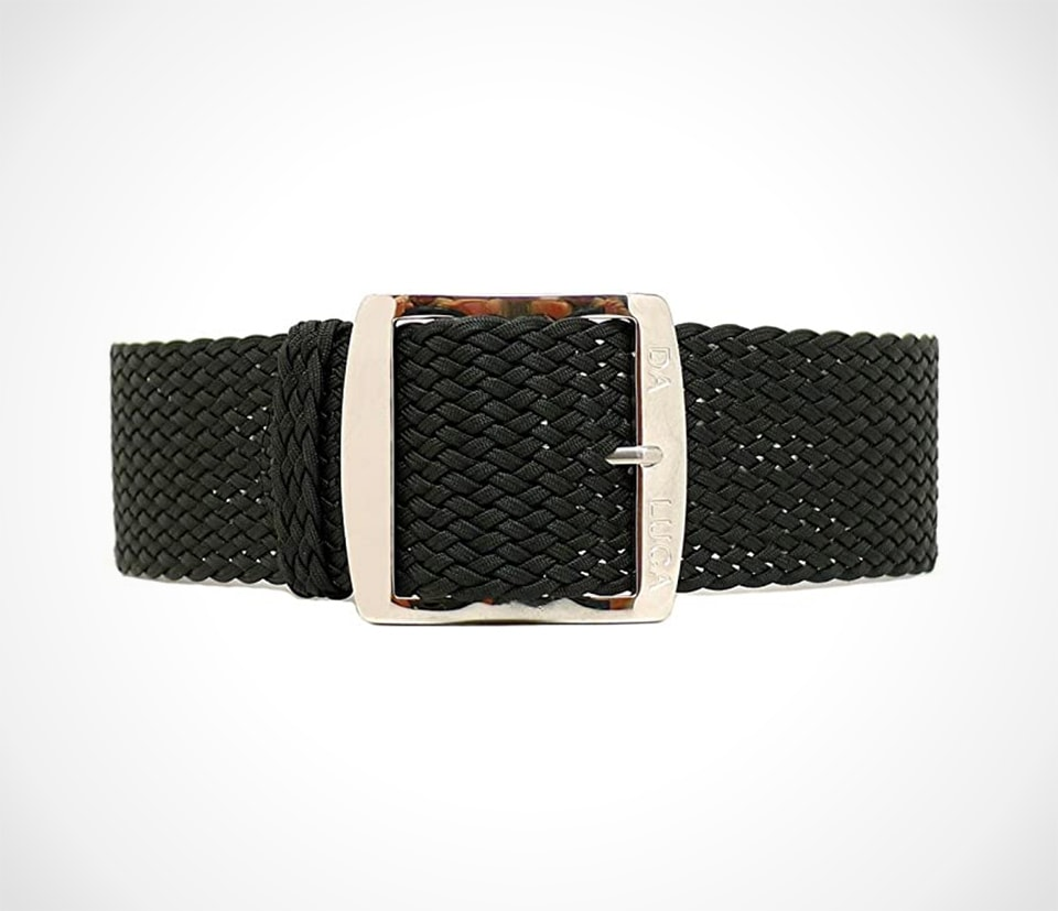 Classic braided perlon watch strap by DaLuca