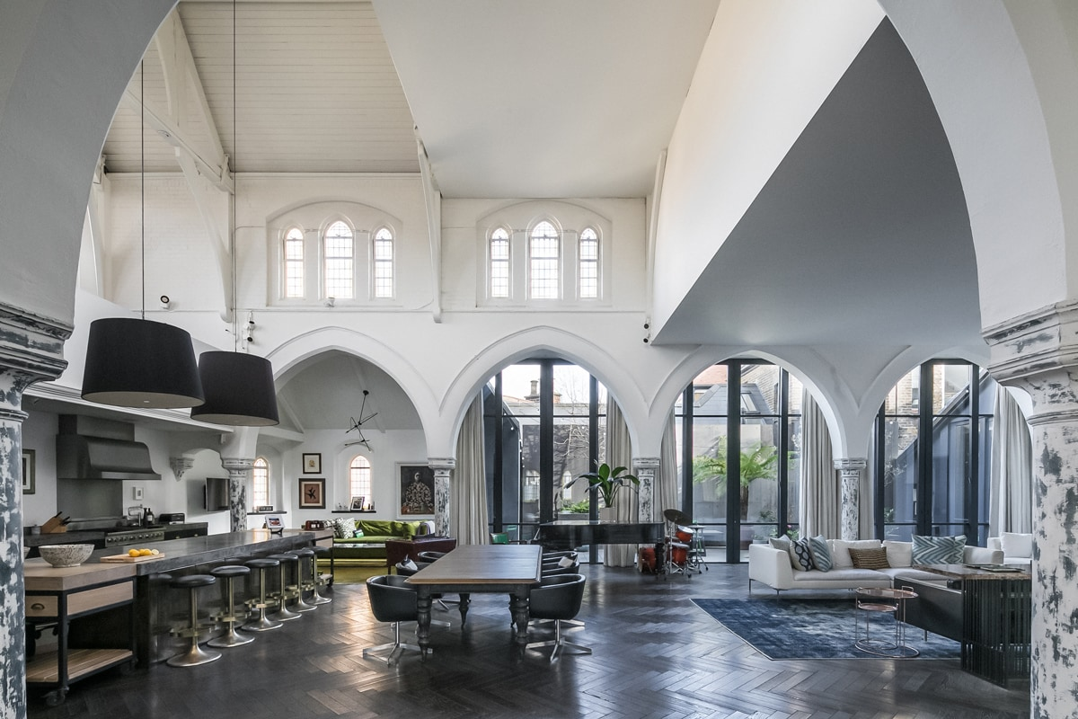 London Church Converted Into A $7,5 Million Modern Family Home