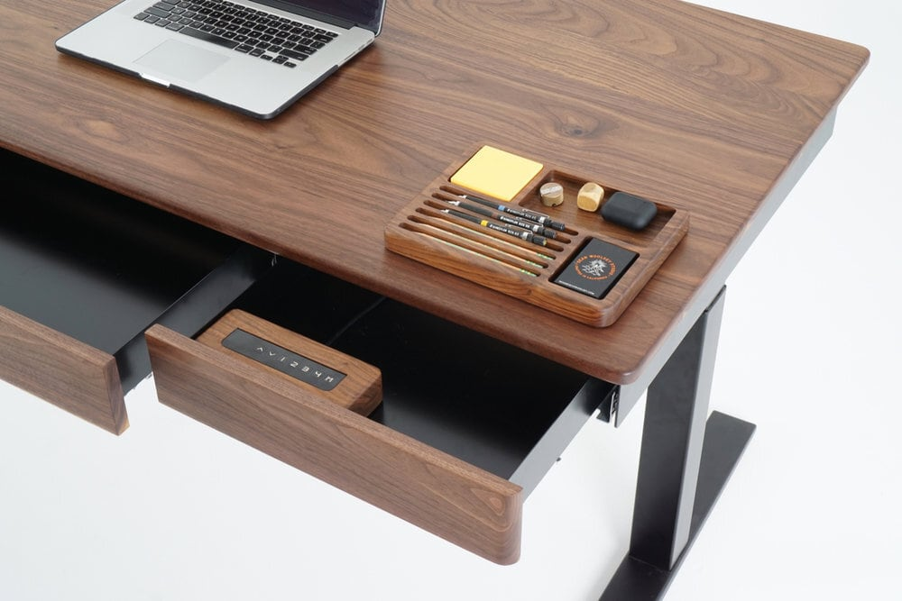 Wooden Smart Desk by Sean Woolsey Studio