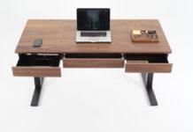 Wooden Smart Desk by Sean Woolsey Studio