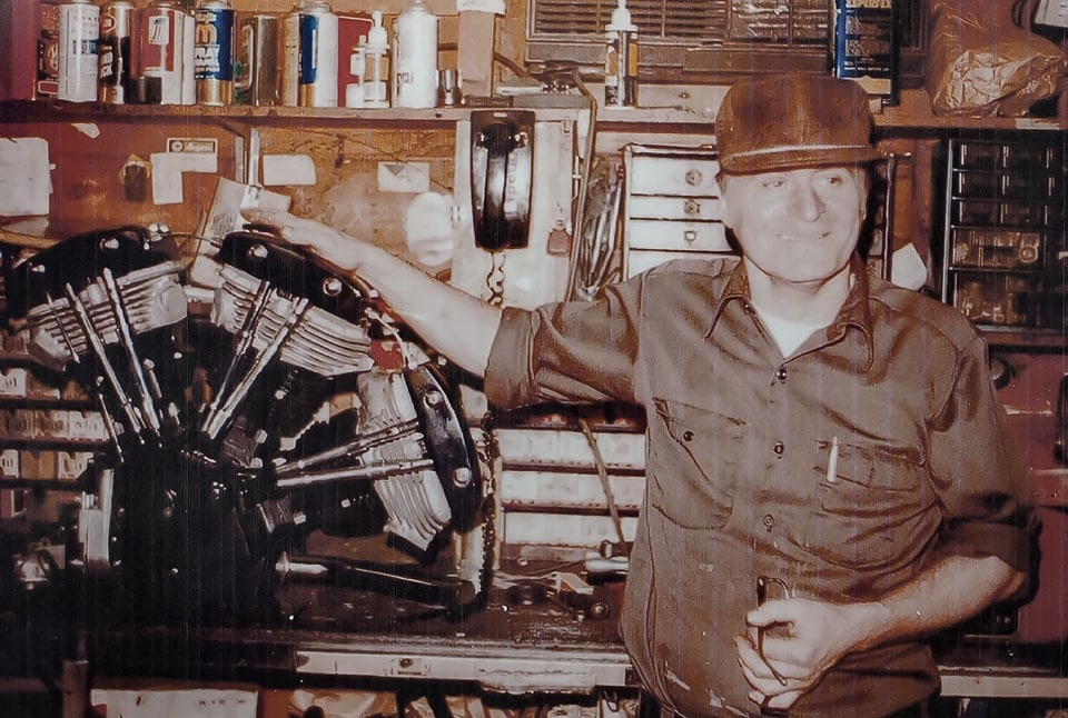 Bobby Labrie's Harley Davidson triple Shovelhead