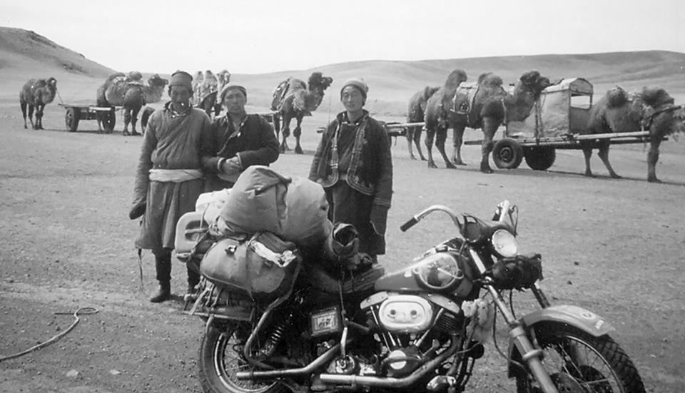 Crossing of Mongolias Gobi Desert by Harley Davidson Shovelhead