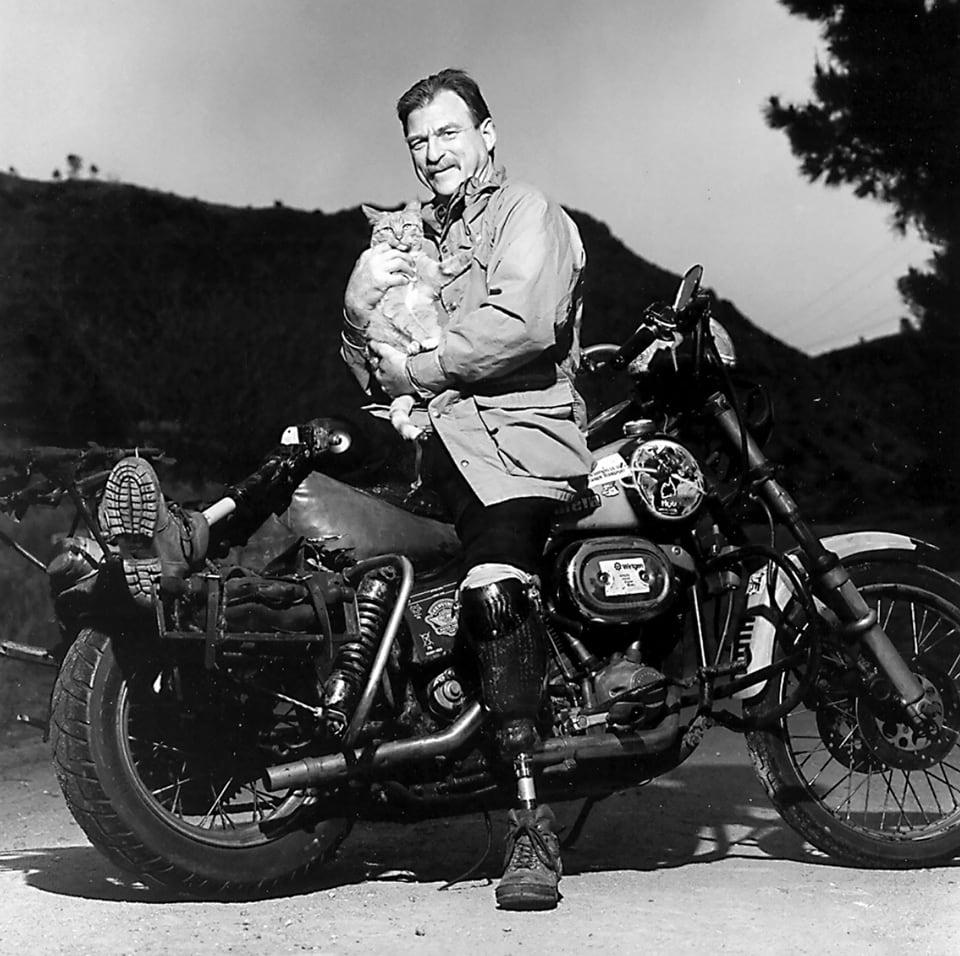 Dave Barr on his Harley-Davidson Shovelhead
