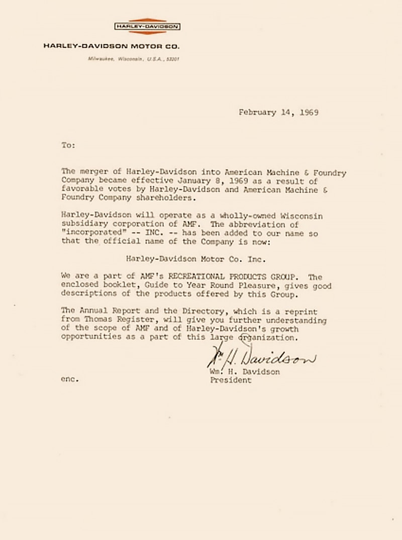 The letter that broke the news in 1969