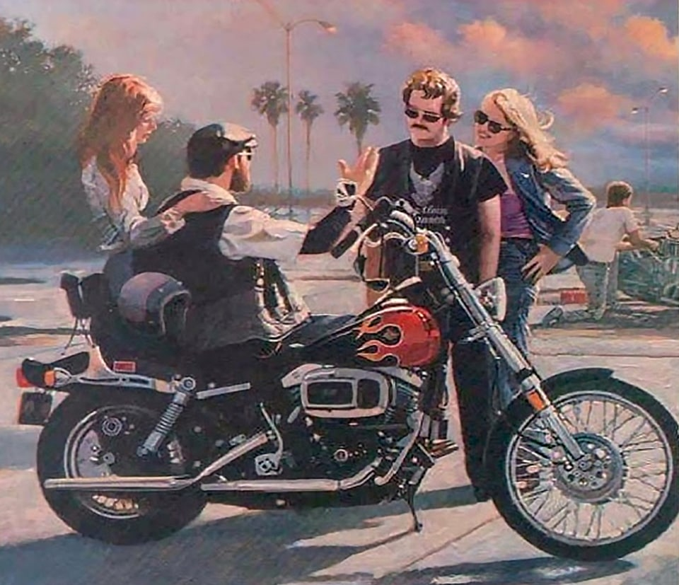 Advertisement for the 1981 Harley Davidson FXWG