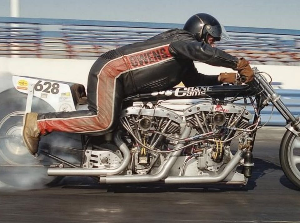 nitro-methane fueled double engine Shovelhead