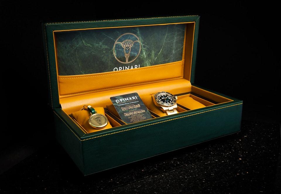 The Opinari leather box