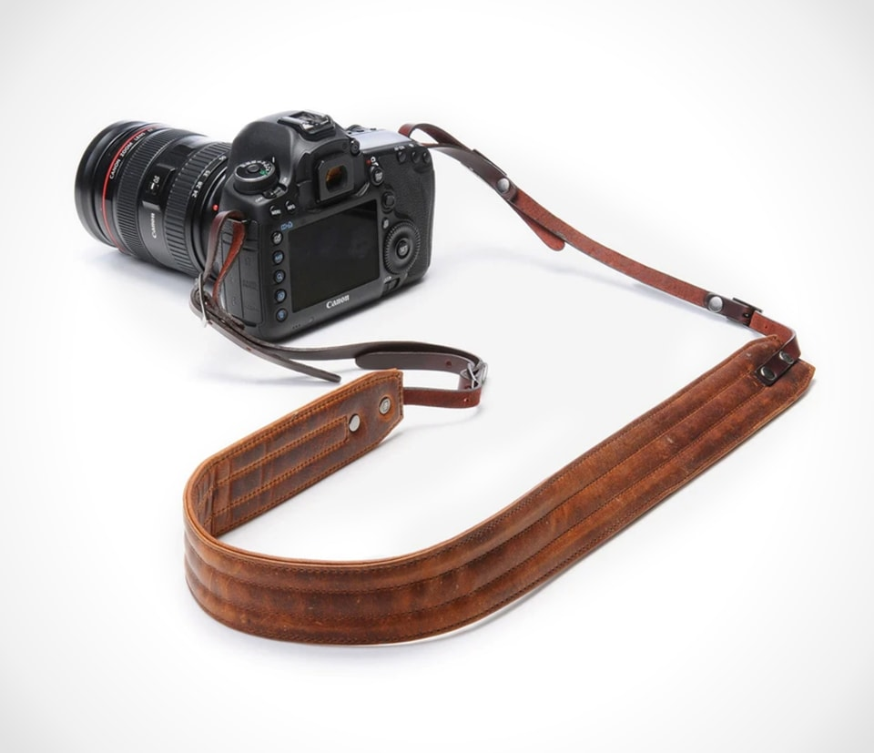 Ona leather camera neck strap
