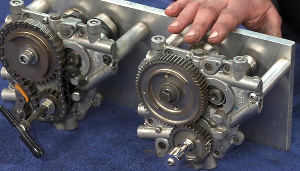 L-R Stock cam chain tensioner