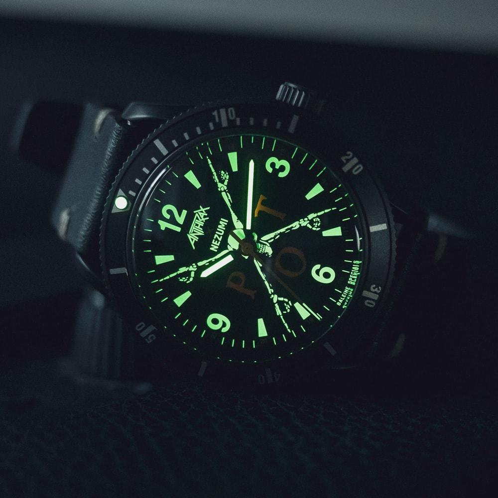 Anthrax Watch illuminated