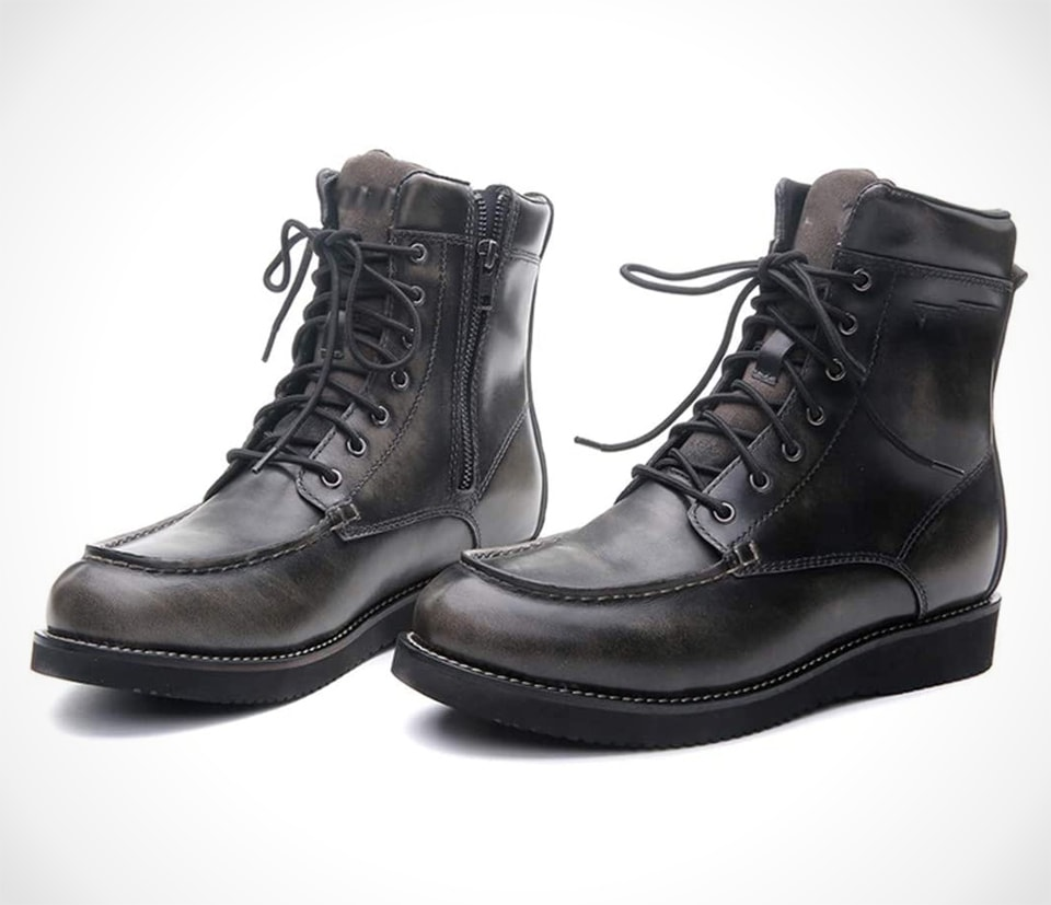 PROOFHEAT Hand-Sewn Style Motorcycle Ankle Boots