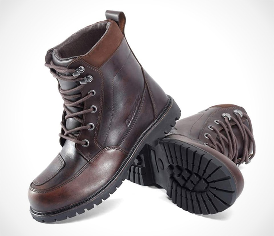 PROOFHEAT Leather Vintage Off-Road Ankle Boots